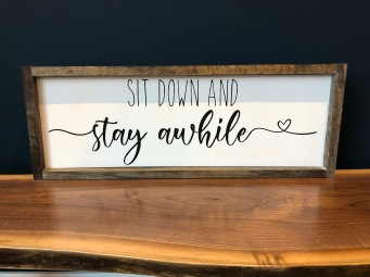 sit down and stay