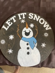 Snowman Door round